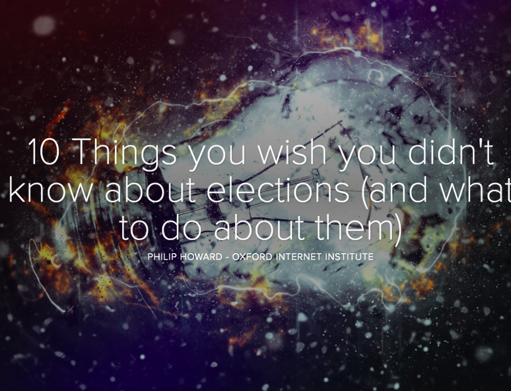 10 Things you wish you didn't know about elections (and what to do about them)