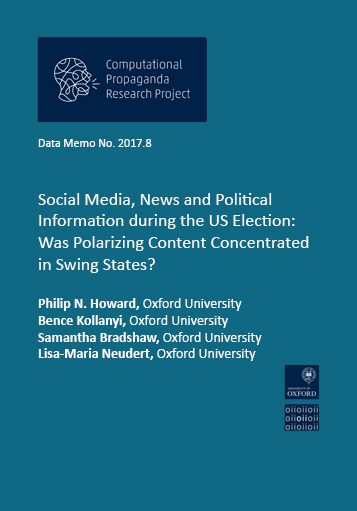 social media news and political information during the us election was polarizing content concentrated in swing states