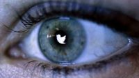 Eye with Twitter logo