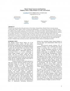 Climate Change Consensus and Skepticism: Mapping Climate Change Dialogue on Twitter and Facebook