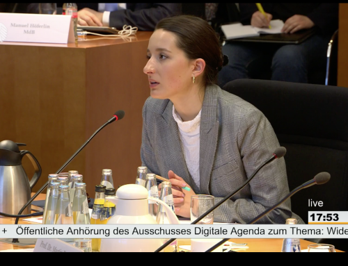 Lisa-Maria Neudert provides expert commentary for Germany's Digital Agenda Committee