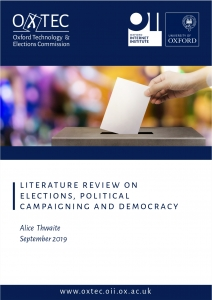 OxTEC: Literature review on elections, political campaigning and democracy