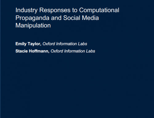 Industry responses to computational propaganda and social media manipulation
