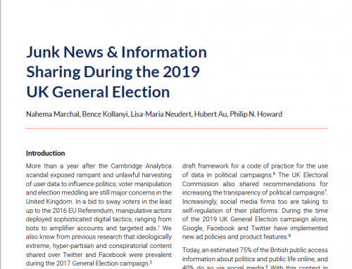 Junk News & Information Sharing During the 2019 UK General Election