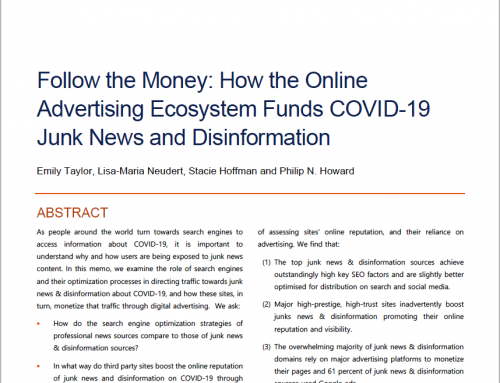 Follow the Money: How the Online Advertising Ecosystem Funds COVID-19 Junk News and Disinformation